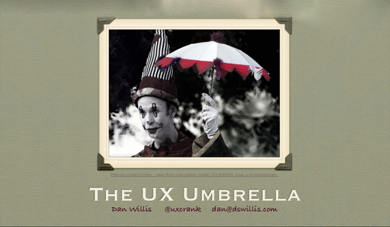 UX Umbrella Screenshot