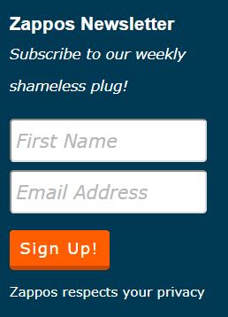 zappo newsletter