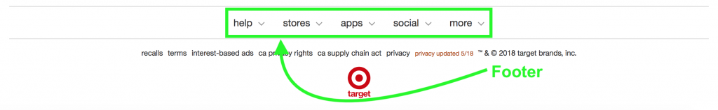 Target Footer