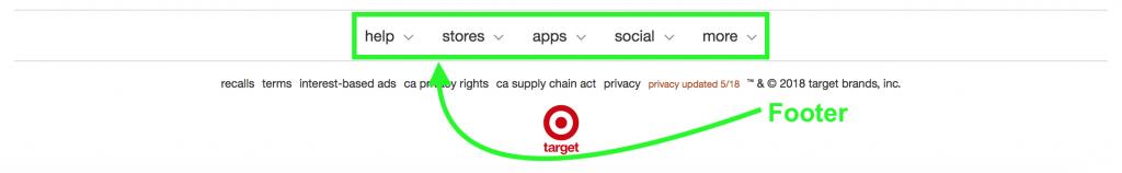 Target Footer