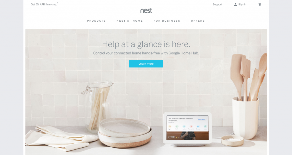 nest website Branding