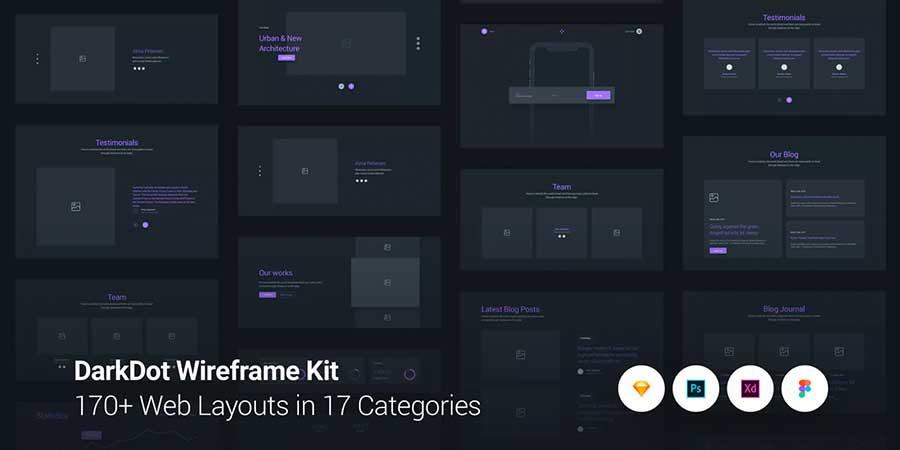 DarkDot Wireframe Kit
