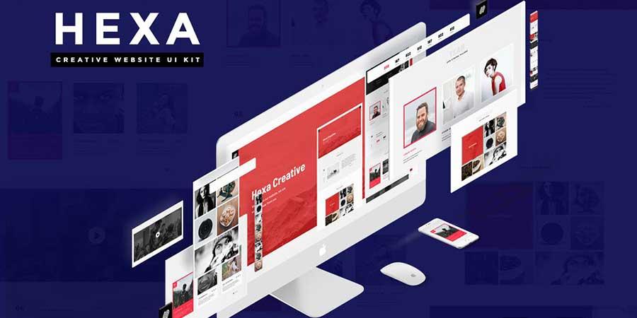 HEXA Wireframe Kit