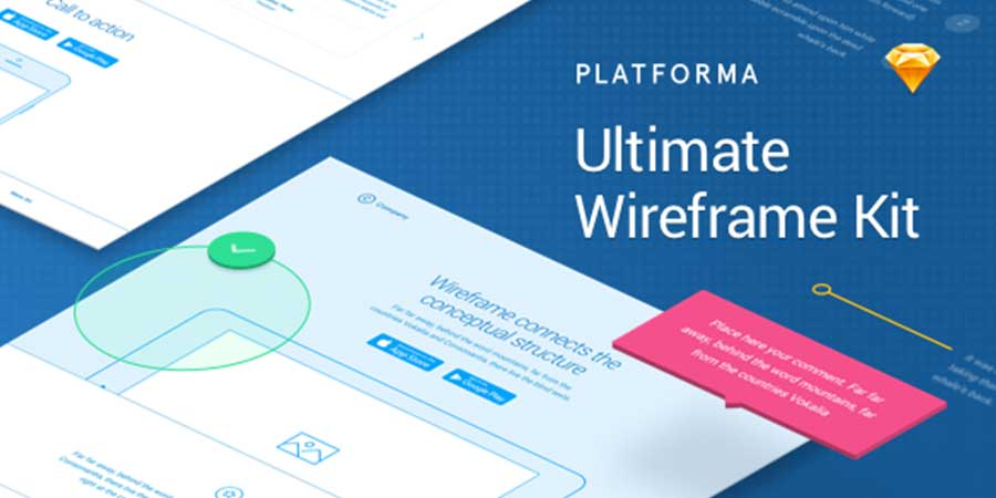 Platforma Wireframe Kit