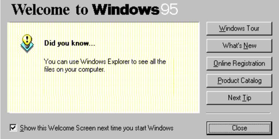Windows 95 Buttons