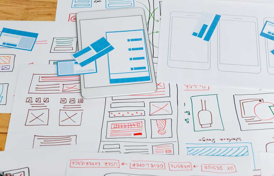 Rapid prototyping with paper example