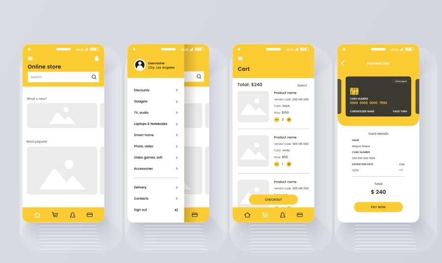 Rapid prototype of e-commerce app