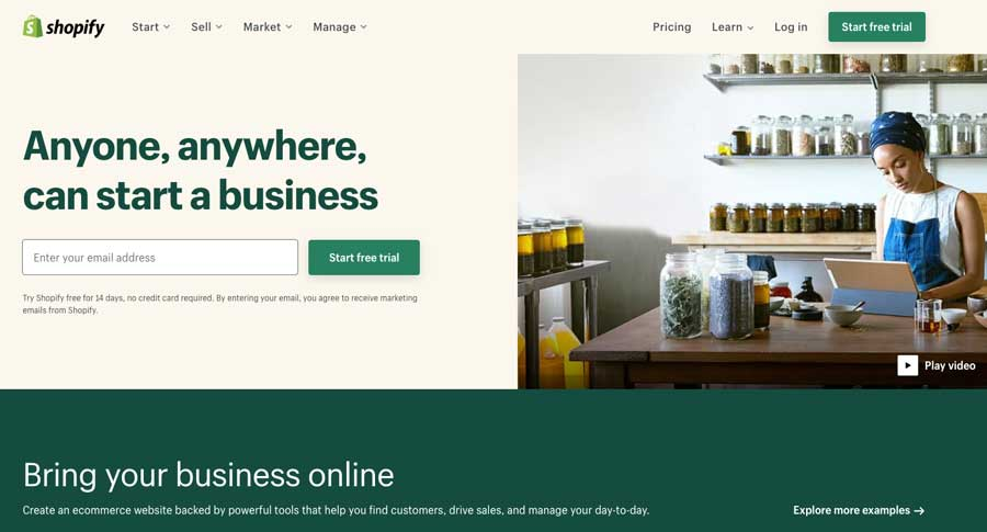 shopify-homepage