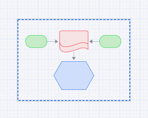 Diagram group shapes function