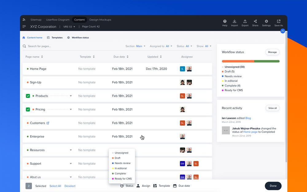 Content Planner dashboard